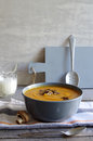 Yam Soup With Roasted Fungi Royalty Free Stock Photos - 76883538