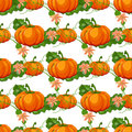 Halloween Seamless Pattern. Background With Pumpkin. Stock Photo - 76884540