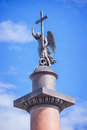 Close Up Of Alexander Column, In St Petersburg, Russia Stock Images - 76888944