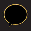 Speech Bubble Gold Glossy Background Vector Illustration Stock Photos - 76890653