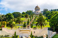 Shrine Of The Bab And Lower Terraces At The Bahai World Center In Haifa Royalty Free Stock Image - 76890856