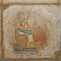 Egyptian Painted Relief Stock Images - 7693174