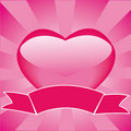 Frame With Heart And Ribbon Royalty Free Stock Photo - 7695805