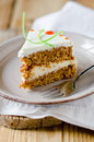 Carrot Cake With Cream Stock Photography - 76911742