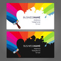 Business Card Paint Royalty Free Stock Photo - 76913685