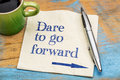 Dare To Go Forward Stock Images - 76920394