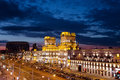 View To Two Towers On Railway Station Square - City Gates At Twilight Royalty Free Stock Photography - 76921507