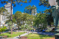 CURITIBA ,BRAZIL - MAY 12, 2016: Some People Relaxing At A Park In The Downtown Of The City Royalty Free Stock Photo - 76921995