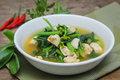Spicy Canton Soup With Chicken Stock Image - 76941931