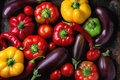 Variety Of Colorful Paprika Peppers Royalty Free Stock Photography - 76947327