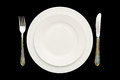 Plate And Cutlery. Royalty Free Stock Images - 76948259