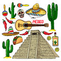 Set Of Traditional Mexican Items Stock Photography - 76976712
