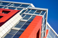 Red Blue Modern Building Facade Royalty Free Stock Photography - 76979457