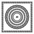 Greek Ornament. Circle Ornament Meander. Round Frame, Rosette Of Ancient Elements. Greek National Antique Round Pattern, Vector. R Stock Photography - 76994702