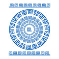 Circle Ornament Meander. Round Frame, Rosette Of Ancient Elements. Greek National Antique Round Pattern, . Rectangular Pulse Royalty Free Stock Photography - 76994837