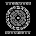 Circle Ornament Meander. Round Frame, Rosette Of Ancient Elements. Greek National Antique Round Pattern, Vector. Rectangular Pulse Royalty Free Stock Photo - 76994905