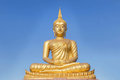 Big Golden Buddha Statue In Thai Temple Royalty Free Stock Photography - 76996327
