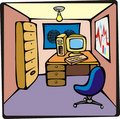 Cartoon Office Stock Photo - 7704060