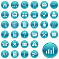 Round Web Icons / Buttons Royalty Free Stock Image - 7707266