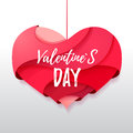 3d Origami Valentines Heart. Valentine S Day Stock Image - 77009751