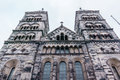 The West Towers Of Lund Cathedral Royalty Free Stock Photos - 77013398