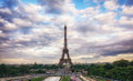 Eiffel Tower Sunset Views Stock Photography - 77035982