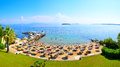 Corfu Beach Resort, Greece Royalty Free Stock Images - 77044659