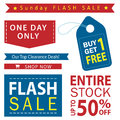 Sale Banner Set. Shop Now, Buy One Get One Free, Vector. Stock Images - 77049504