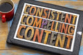 Consistent, Compelling Content In Wood Type Stock Images - 77051874