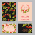 Save The Date - Wedding Invitation Or Congratulation Card Set Royalty Free Stock Photos - 77052128
