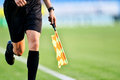 Assistant Referee During Soccer Match Royalty Free Stock Images - 77057149