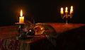 Candlestick And Venetian Mask Royalty Free Stock Photography - 77071017
