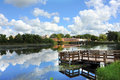 Fishing Dock In Wisconsin Stock Photography - 77080502