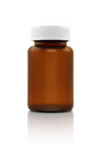 Blank Brown Glass Supplement Bottle Isolated On White Stock Photo - 77083730