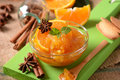 Jam Orange In The Bowl Royalty Free Stock Photography - 77090837