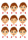 Set Of Boy Avatar Expressions Royalty Free Stock Photography - 77091507