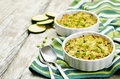 Brown And Wild Rice Zucchini Casserole Stock Image - 77094101