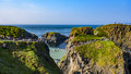 Carrick-a-Rede Rope Bridge Royalty Free Stock Image - 77099016
