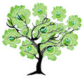 Vector Abstract Tree Stock Images - 77102054