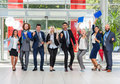 Business People Group Successful Excited Team In Modern Office, Businesspeople Happy Smile Stock Images - 77109834
