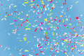 Colorful Confetti In The Blue Sky Royalty Free Stock Photos - 77120288