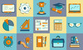 Self Study And Education Themed Icons Set. Stock Photo - 77142960
