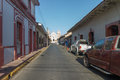 Principal Street View At Afternoon From Leon, Nicaragua Stock Photo - 77148570