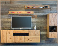 Designer Living Room Wall With Tv Wooden Cupboard Stock Photo - 77154730