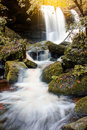 The Landscape Photo Beautiful Waterfall In Autumn Forest Thailan Stock Photo - 77168950
