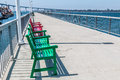 Benches On Pier At Cesar Chavez Park In San Diego Royalty Free Stock Photography - 77169247