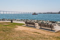 Park Benches At Embarcadero Park South In San Diego Stock Photos - 77171653