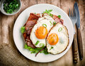 Two Fried Eggs Royalty Free Stock Photos - 77174528