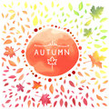 Autumn Illustration With Motley Leaves. Royalty Free Stock Photo - 77174755