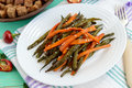 Baked Green Beans And Carrots - Vegan Diets Stock Image - 77178771